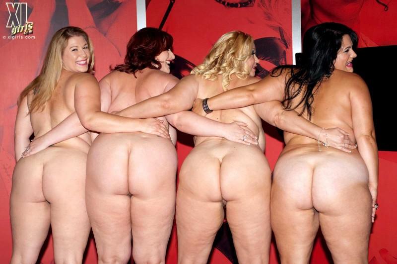 Квартет пышногрудых толстушек с большими жопами