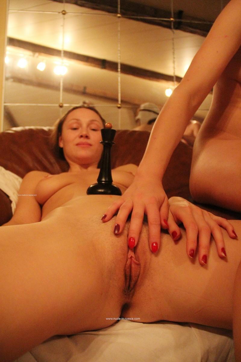 Русские девки трахаются в бане