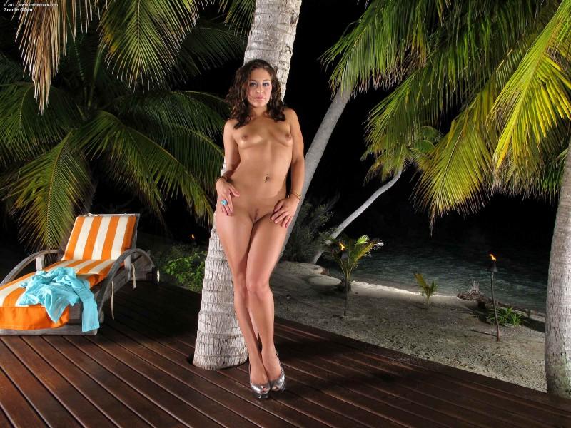 Выразительная жопа у пальмы секс фото