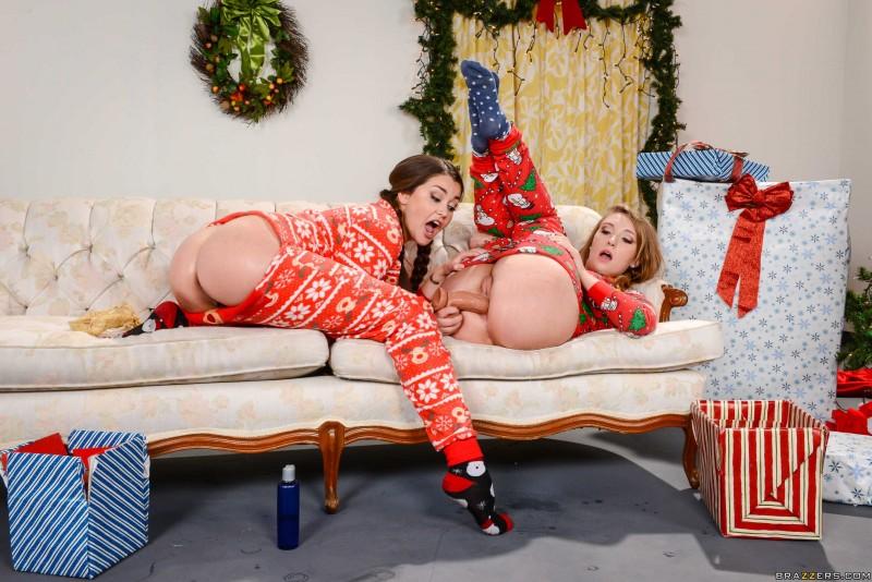 Новогодние тёлки, анальная вечеринка секс фото